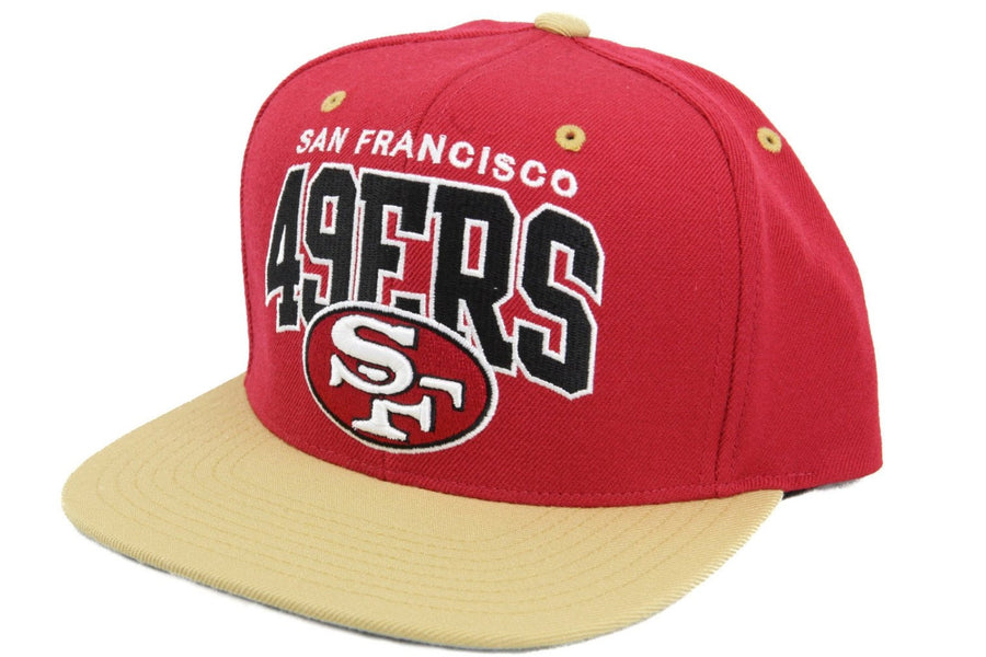 Mitchell and Ness San Francisco 49ers Arch Red Yellow Snapback 31eb9ee10da9