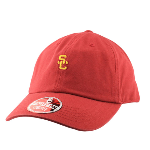 USC Trojans Red/Red Slouch Strapback - Bespoke Cut and Sew - 1