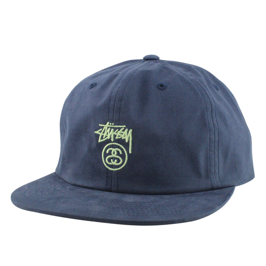 Stussy Stussy Small Stock Lock Navy Navy Unstructured Strapback d8f93b7b80d