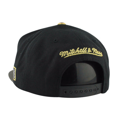 Mitchell and Ness San Antonio Spurs HWC Gold Tip Black/Gray Snapback