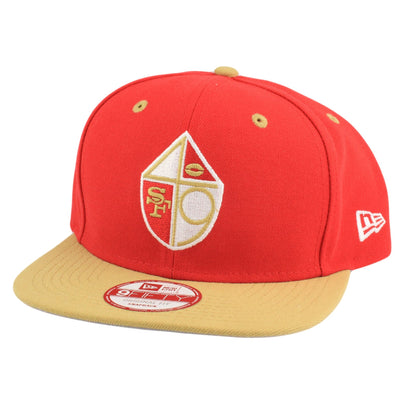 New Era San Francisco 49ers 2Tone Throwback Red/Brown Snapback