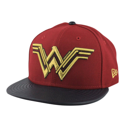 New Era Wonder Woman Justice League Maroon/Black Snapback