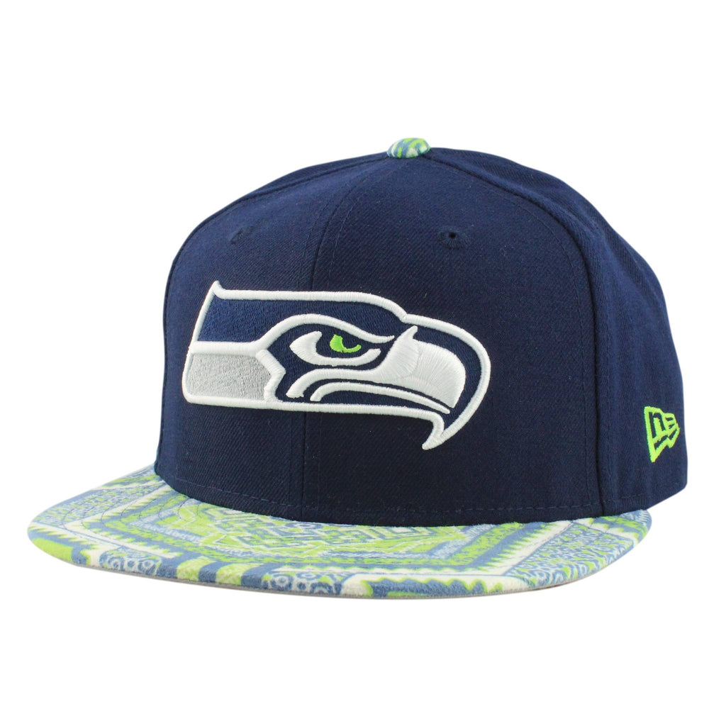 Seattle Seahawks Kaleidovize Blue/Assorted Snapback - Bespoke Cut and Sew - 1