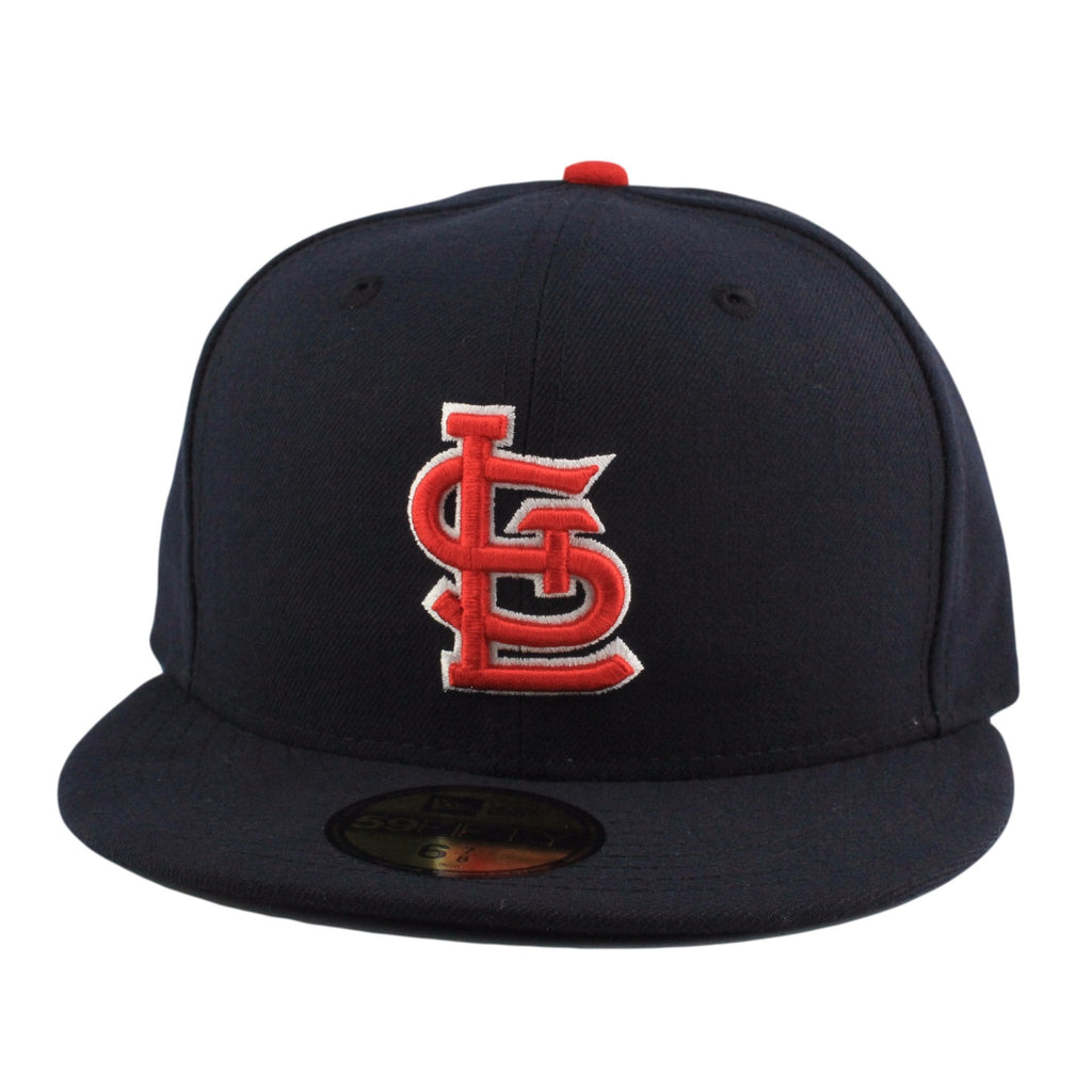 St. Louis Cardinals Alternate 1 Blue/Blue Fitted - Bespoke Cut and Sew