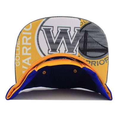 Adidas Golden State Warriors Finished Goods Blue/Gray Snapback