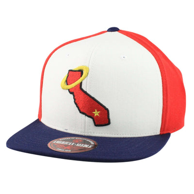 American Needle California Angels The Big Show White/Red/Navy Snapback