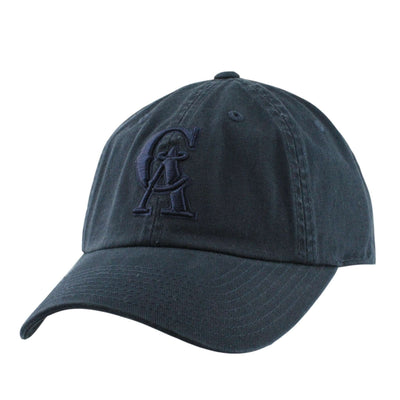 American Needle California Angels Tonal Ballpark Navy/Navy Slouch Strapback