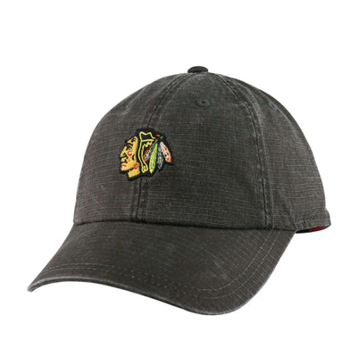 American Needle Chicago Blackhawks Conway Black/Black Slouch Strapback