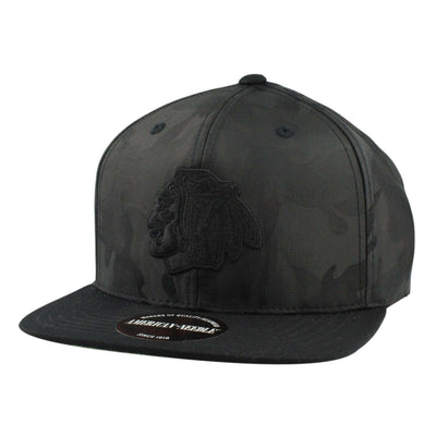 American Needle Chicago Blackhawks Covert Camo Black/Black Snapback