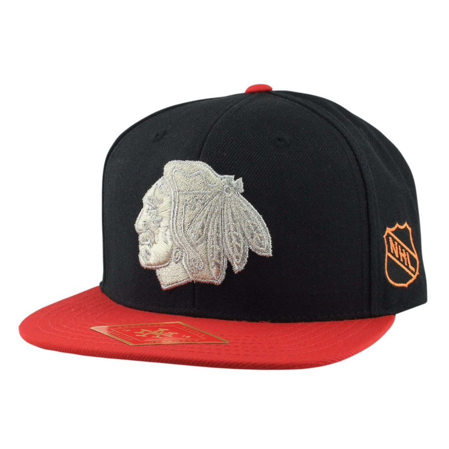 8667d728a36 American Needle Chicago Blackhawks Silver Fox Red Black Snapback