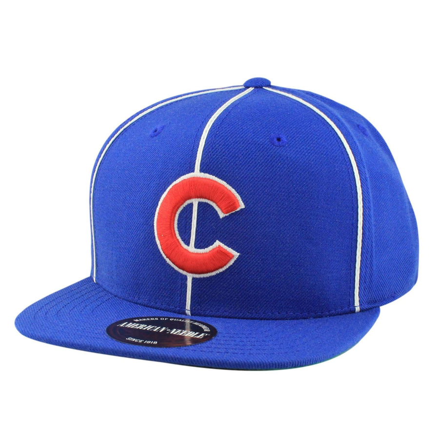 13ca85c71bb American Needle Chicago Cubs 400 Blue Blue Snapback