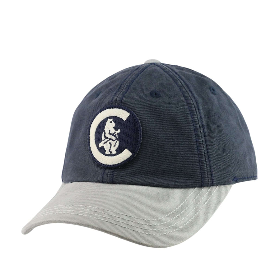 e662d5038c5 American Needle Chicago Cubs New Timer Navy Gray Slouch Snapback