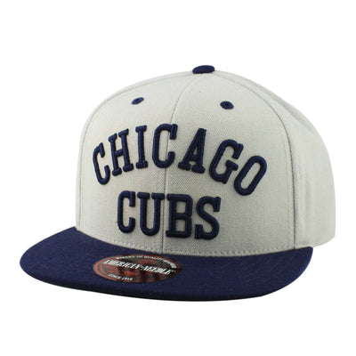 American Needle Chicago Cubs Scripteez Gray/Blue Snapback