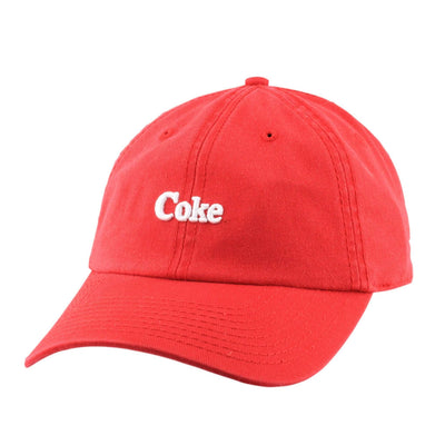 American Needle Coca-Cola Wash Micro Red/Red Slouch Strapback