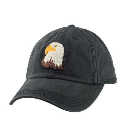 American Needle Eagle New Timer Black/Black Slouch Snapback