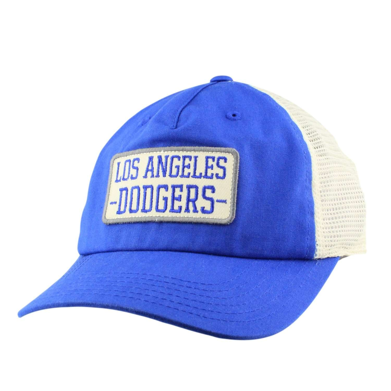 63b8175d03089 American Needle Los Angeles Dodgers Leon Blue White Blue Slouch Trucker  Snapback