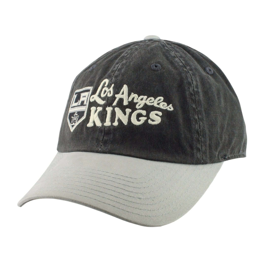 efdb38c10a7 American Needle Los Angeles Kings Dyer Black Gray Slouch Strapback