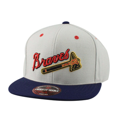 American Needle Milwaukee Braves The Big Show Gray/Blue Snapback