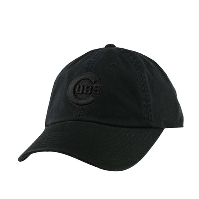 American Needle MLB Adjustables Chicago Cubs Tonal Ballpark Black/Black Slouch Strapback