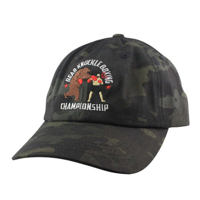 Anything Goes Anything Goes Bear Knuckle Boxing Black Camo/Black Camo Slouch Strapback