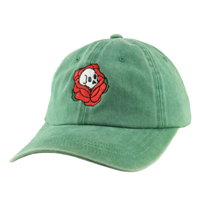 Anything Goes Anything Goes Death Rose Washed Green/Green Slouch Strapback