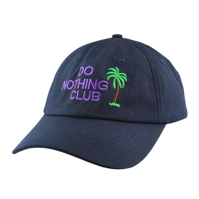 "Anything Goes Anything Goes ""Do Nothing Club"" Navy/Navy Slouch Strapback"