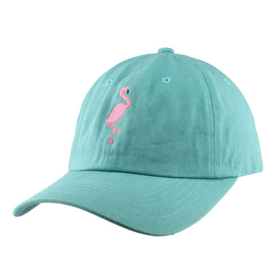 Anything Goes Anything Goes Pink Flamingo Teal/Teal Slouch Strapback