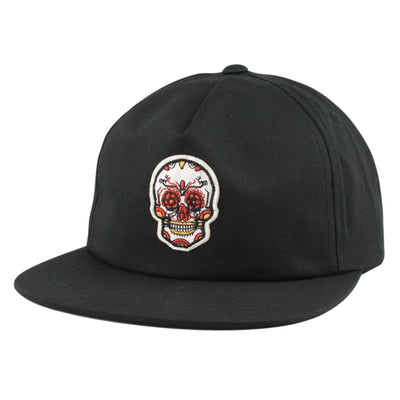 Anything Goes Anything Goes White Mini Candy Skull Black/Black Unstructured Snapback