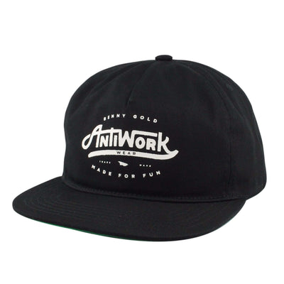 Benny Gold Benny Gold Anti-Work Black/Black Unstructured Snapback