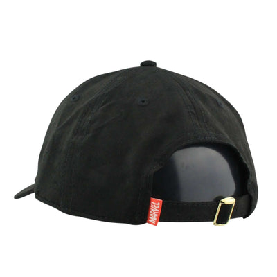 Bioworld Deadpool Leather Label Suede Black/Black Slouch Strapback