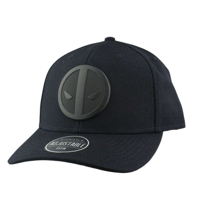Bioworld Deadpool Metal Badge Curved All Black/Black Snapback