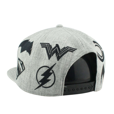 Bioworld Justice League Emb. Acryllic Wool Heather Gray/Heather Gray Snapback