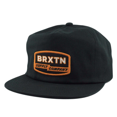 Brixton Brixton Sinclair HP Black/Black Unstructured Snapback