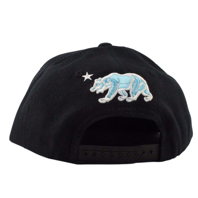 California Republic California Republic Bear Black/LTH White Snapback