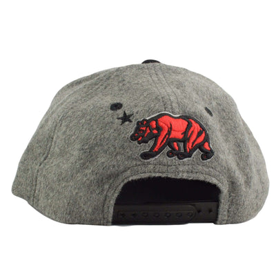 California Republic California Republic Bear Melton Wool Gray/Black Snapback