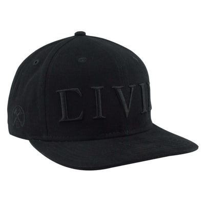 Civil Civil Essential Black/Black Snapback