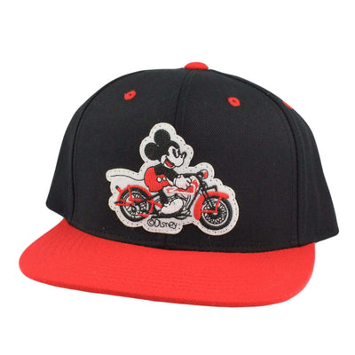 Comic Co. Comic Co. Mickey Mouse Motorcycle Patch Black/Red Snapback