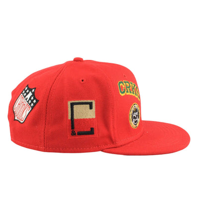 Crooks and Castles Crooks and Castles Badges Red/Red Snapback