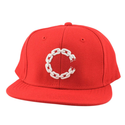 Crooks and Castles Crooks and Castles Chain C Underbill Red/Red Snapback