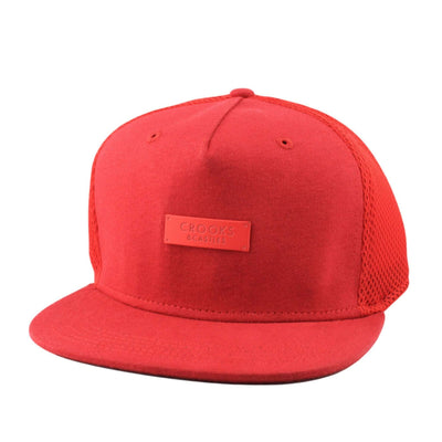 Crooks and Castles Crooks and Castles Metal Badge Red/Red Clipback