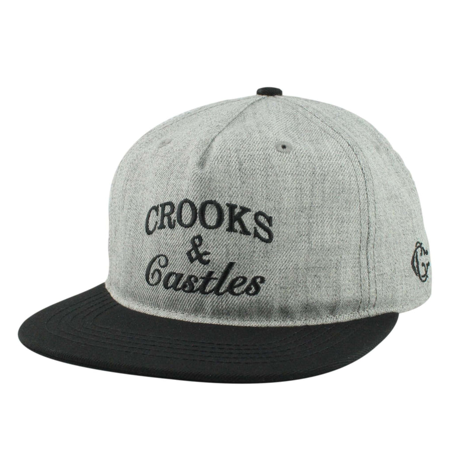 34fd6545 Crooks and Castles Crooks and Castles Timeless Heather Gray/Black  Unstructured Snapback
