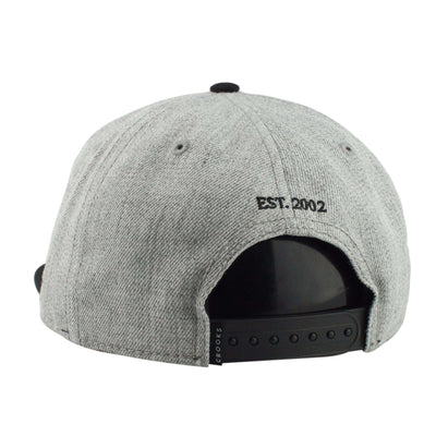 Crooks and Castles Crooks and Castles Timeless Heather Gray/Black Unstructured Snapback