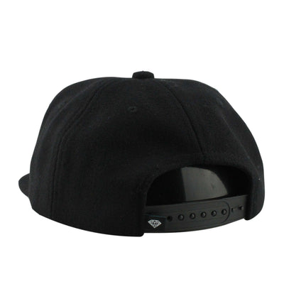 Diamond Supply Co. Diamond OG Script Wool Black/Black Unstructured Snapback