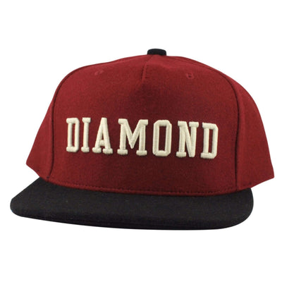 Diamond Supply Co. Diamond Supply College Red/Black Snapback