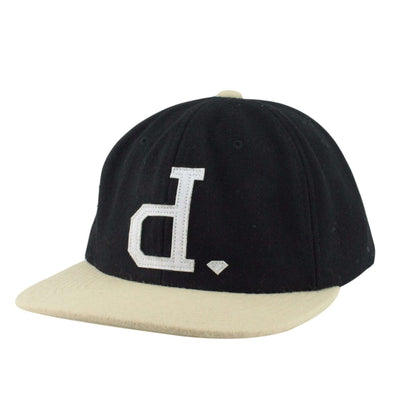 Diamond Supply Co. Diamond Unpolo Wool Black/Tan Unstructured Strapback
