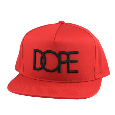 DOPE DOPE Logo Red/Red Snapback