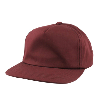 Flexfit Blank 5-Panel Unstructured Maroon/Maroon Snapback