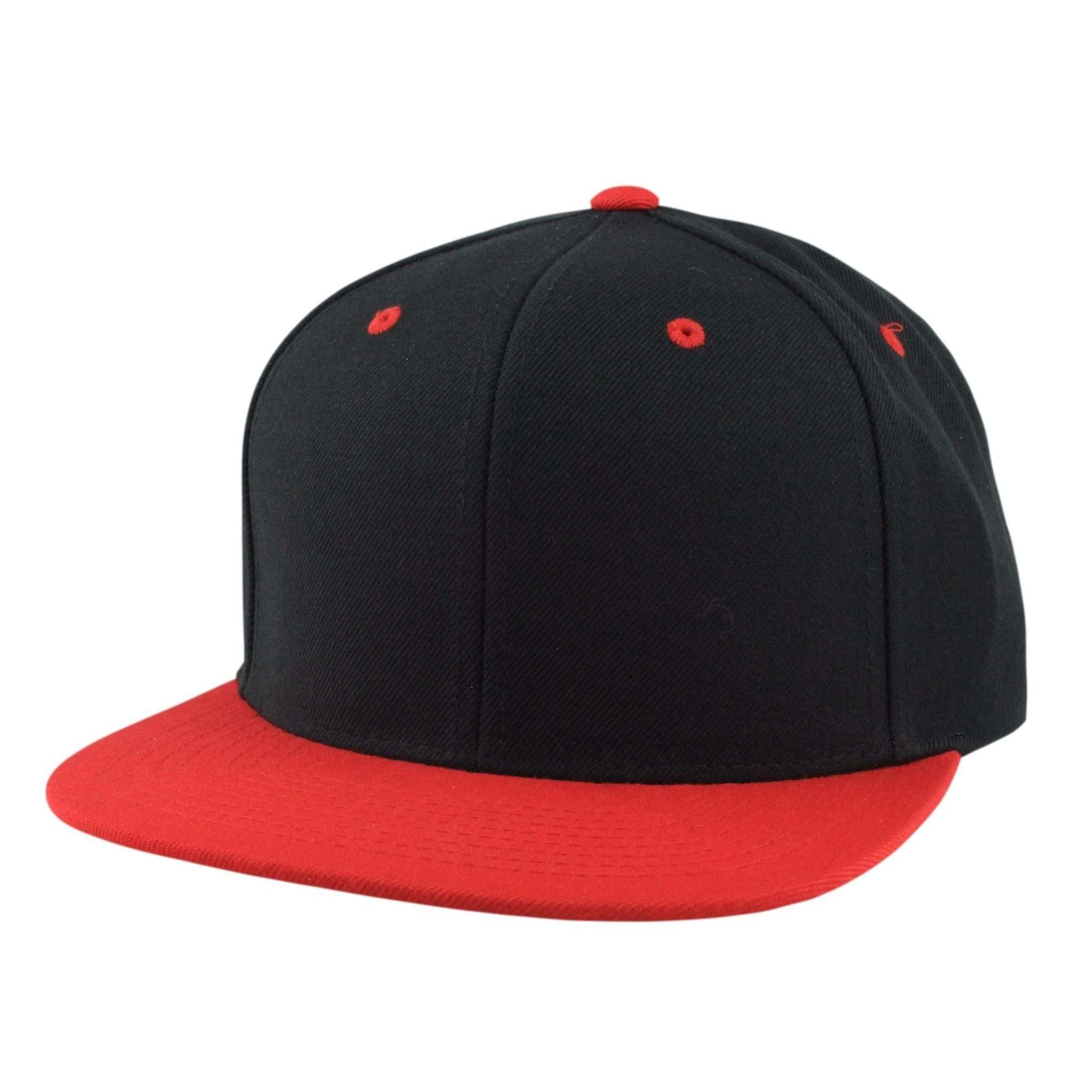 Flexfit Blank 6-Panel Black Red Snapback b8eda676a15