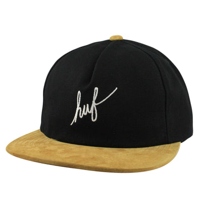 HUF Huf Script Denim Black/Brown Unstructured Snapback