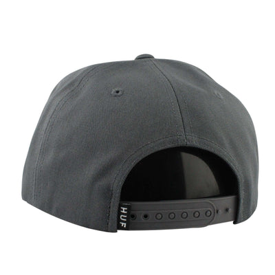 HUF HUF Script Unstructured Gray/Gray Snapback